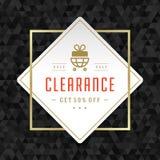 La conception de bannière de vente sur le fond géométrique et le cadre d'or dirigent l'illustration Photo stock
