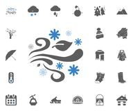 La conception de couverture Globe de neige de Noël Globe en verre avec des étoiles et l'hiver d'expression bonjour à l'intérieur  illustration libre de droits