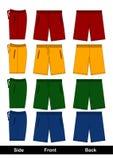 La conception de croquis court-circuite coloré, vecteur Photo stock