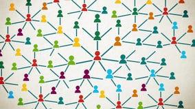 La conception de l'avant-projet sociale d'expansion de connexions réseau arrêtent dedans le style d'animation de mouvement banque de vidéos