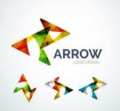 La conception de logo d'icône de flèche faite en couleur rapièce illustration de vecteur