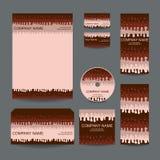 La conception de papeterie a placé dans le format de vecteur Image stock