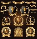 La conception de récompense badges et marque la collection illustration libre de droits