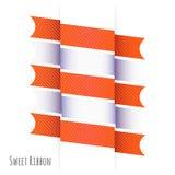 La conception de ruban avec le blanc gris et les couleurs oranges modifient la tonalité le dossier de vecteur Photos libres de droits