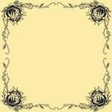 La conception de style de tatouage d'oldskool de cadre de roses a placé 01 Photos libres de droits