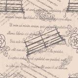 La conception de textile, papier peint, s'est fanée texte Photo stock