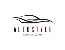 La conception des véhicules à moteur de logo de voiture avec le résumé folâtre la silhouette de véhicule Images libres de droits