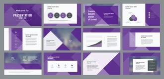 La conception et la mise en page de calibre de présentation d'affaires conçoivent pour la brochure, livre, magazine, rapport annu illustration stock