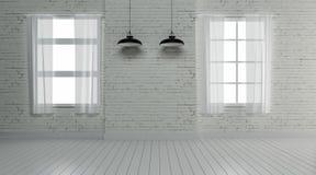 La conception intérieure industrielle et la décoration 3d rendent Photos stock