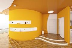 La conception intérieure moderne du hall d'entrée 3d rendent Image libre de droits