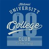 La conception marque avec des lettres le centre d'enseignement supérieur national Photos libres de droits