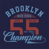 La conception marque avec des lettres le champion de Brooklyn New York Photographie stock