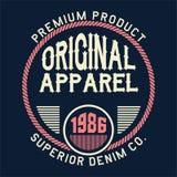 La conception marque avec des lettres le supérieur original d'habillement Image libre de droits