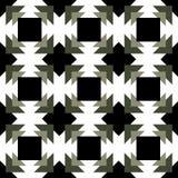 La conception noire et blanche de fond de la géométrie abstraite , conception de vecteur Photos libres de droits
