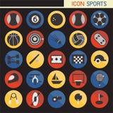 la conception plate de 25 ensembles, contient de telles icônes rugby, bowling, football, basket-ball, base-ball, tennis et plus,  illustration libre de droits