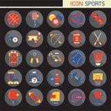 la conception plate de 25 ensembles, contient de telles icônes rugby, bowling, football, basket-ball, base-ball, tennis et plus,  illustration stock
