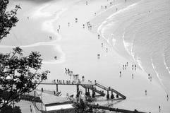 La Concha Bay, ¡n de San Sebastià fotografía de archivo libre de regalías
