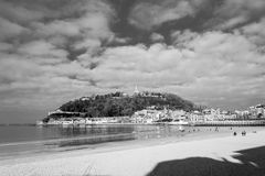 La Concha bay in San Sebastian (Spain) Royalty Free Stock Photos