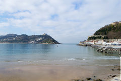 La Concha bay in San Sebastian (Spain) Stock Image