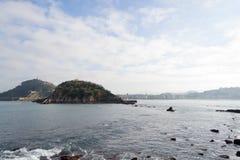 La Concha bay in San Sebastian (Spain) Stock Photo