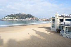La Concha bay in San Sebastian (Spain) Royalty Free Stock Images