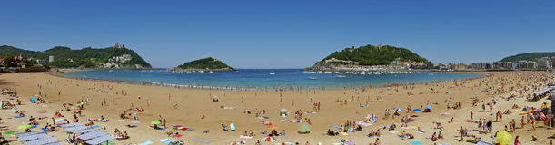 La Concha Beach. Donostia-San Sebastian. Basque Country. Gipuzkoa. SPAIN. Stock Images