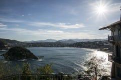 La Concha Beach em San Sebastian Foto de Stock Royalty Free