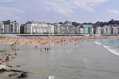 La Concha Beach in San Sebastian Royalty Free Stock Photo