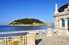 La Concha Beach in San Sebastian, Spain Stock Image