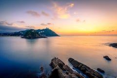 La Concha Sunset Stock Photography