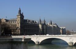 La Conciergerie. On the Ile-de-la-Cité in Paris, France.  Also known as the Prefecture of Police Stock Photo
