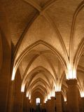 La Conciergerie. Basement of La Conciergerie in Paris, a former royal palace turned prison. The basement was the site of the tribunals that sent so many nobles royalty free stock photo