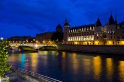 La Conciergerie at night - Paris France Royalty Free Stock Photo