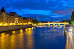 La Conciergerie  and Pont Neuf, Paris, France Stock Image