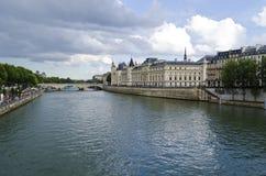 La Conciergerie and the Seine River - Paris, France Royalty Free Stock Photos