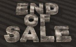 La conclusione del testo della vendita ha arrugginito metallo Fotografia Stock