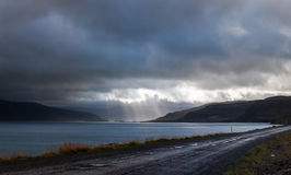 La conclusione di Patreksfjordur Fotografia Stock