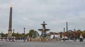 La Concorde Square of Paris, France royalty free stock photography