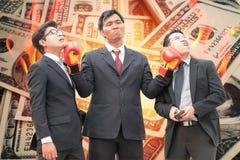 La concurrence est des affaires financières intenses Photo libre de droits