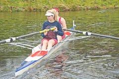 La concurrence principale de petits bateaux.   Photos libres de droits