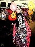 La condizione ed i palloni della sposa di subcontinente sono nel fondo royalty illustrazione gratis