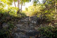 La conduite d'escalier de roche Photos stock