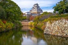 La conduttura tiene del castello di Himeji in hyogo, Kansai, Giappone fotografia stock libera da diritti
