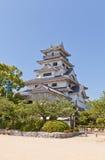 La conduttura tiene (donjon) del castello di Imabari, Giappone immagini stock