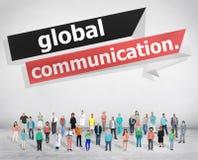 La conexión de las comunicaciones globales comunica concepto imágenes de archivo libres de regalías