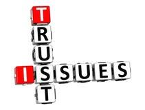 la confiance 3D publie des mots croisé Images stock