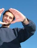 La confiance en soi - homme heureux Image libre de droits