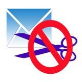 La confidentialité de la correspondance Photo stock