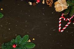 La configuration d'appartement de Noël a dénommé la scène Photo stock