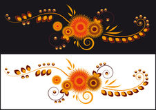 La configuration des fleurs abstraites Image libre de droits